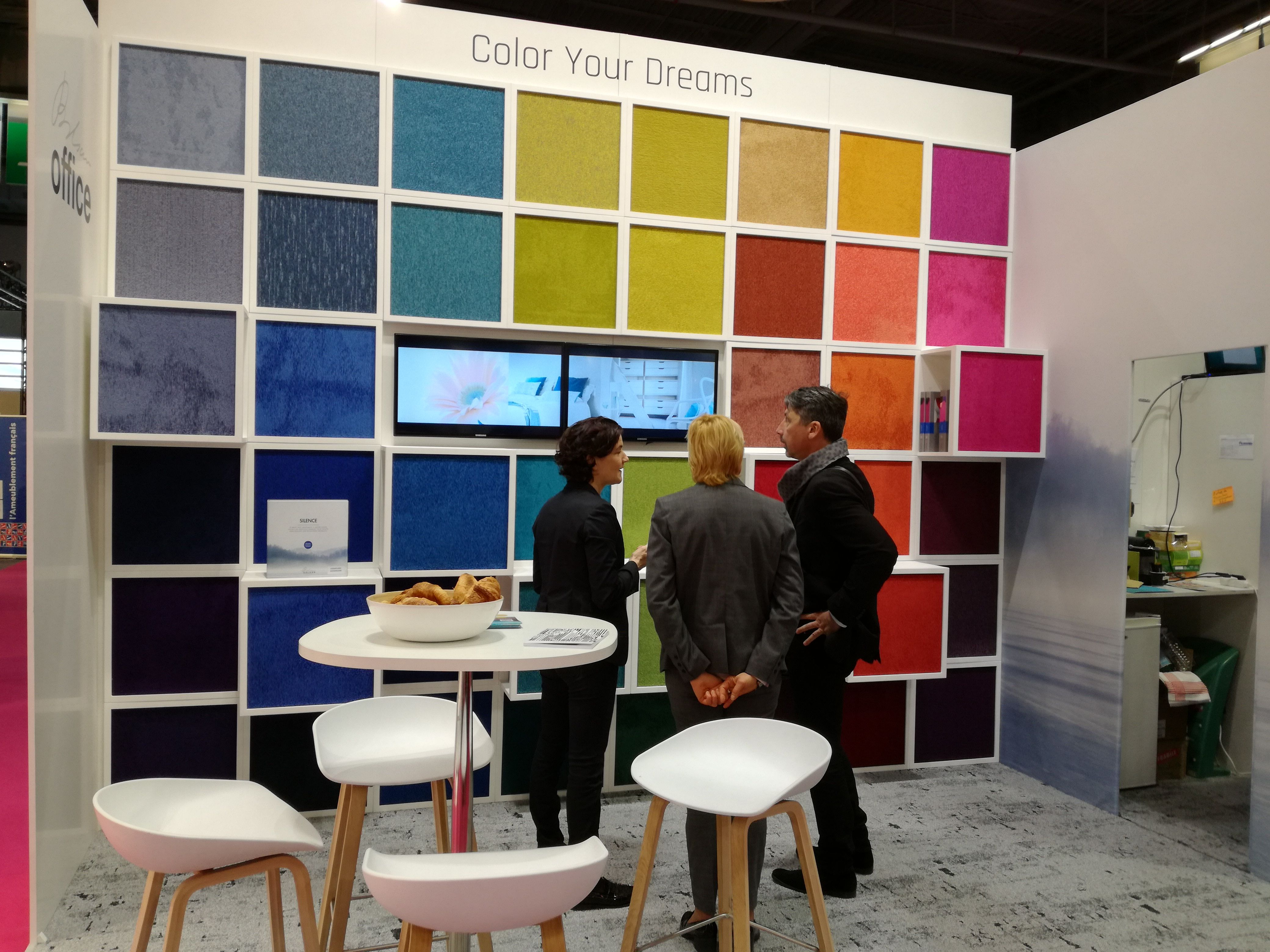 Balsan salon exhibition stand workplace expo design