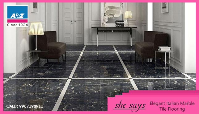She Chooses Elegant Italian Tile Floorings Marble Which Has High Aesthetic Value And Adds Both Elegance And Value To Her Tile Floor Marble Tile Floor Flooring