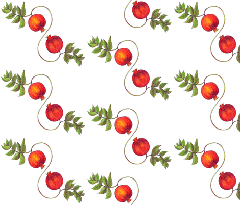 Pomegranates fabric by the_pear_trees on Spoonflower - custom fabric