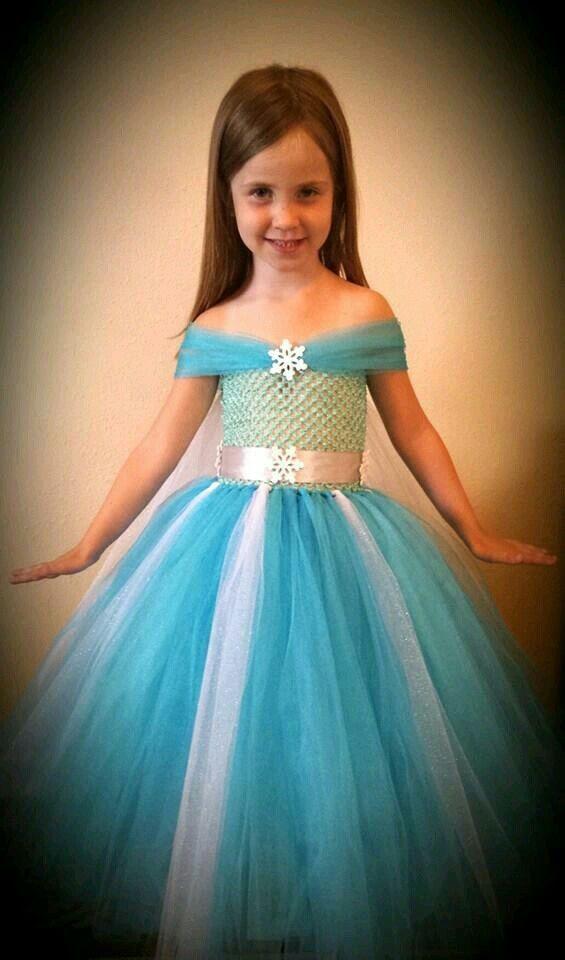 Vestido Elsa Frozen Halloween Princess Tutu Dresses