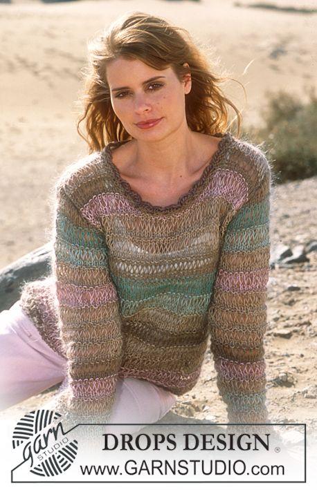 Jersey DROPS en Safran y Vivaldi | knitting & dos agujas | Pinterest ...