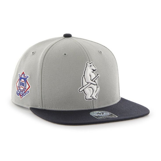 f50438e040f Chicago Cubs Sure Shot 2-Tone 1914 Captain s Wool Snapback by  47 Brand