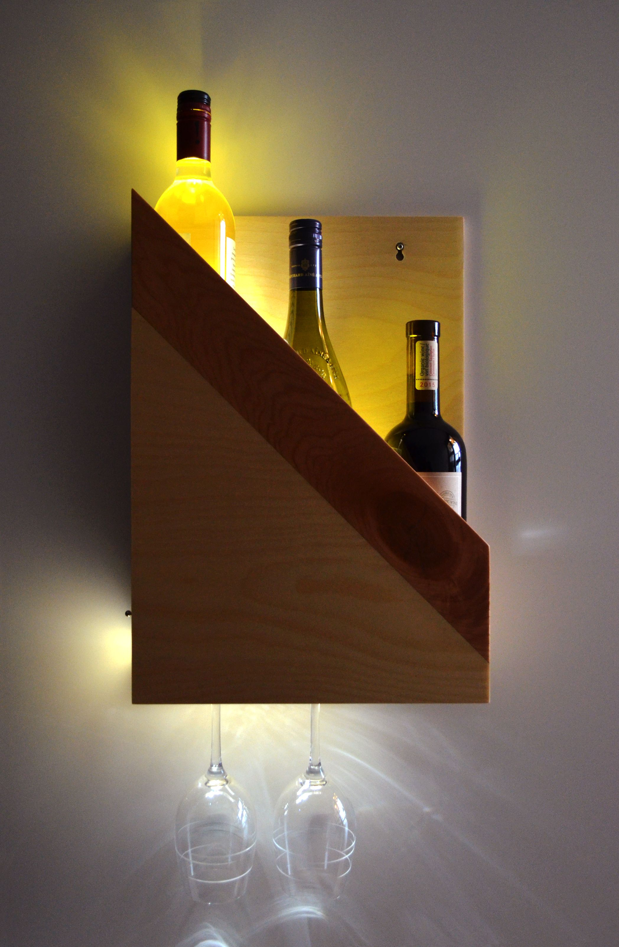 Small Wine Stand A Unique And Stylish Wall Mounting Wine Holder That Holds Three