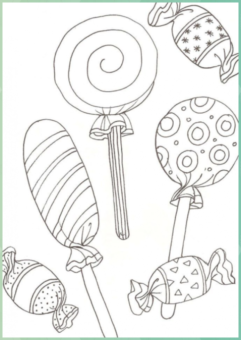 Lollipop Coloring Pages Best Coloring Pages For Kids Coloring Kids Lollipop Pages In 2020 Candy Coloring Pages Cute Coloring Pages Coloring For Kids