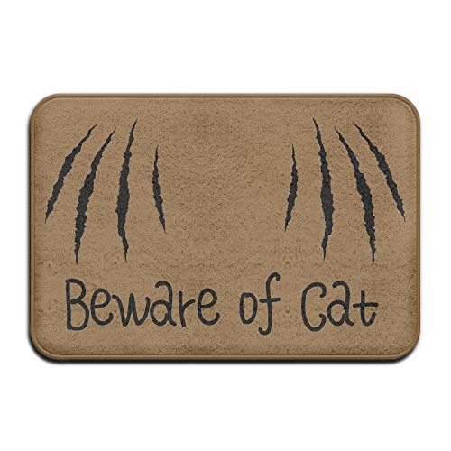 Beau Cat Bathroom Rug   Custom Saying Quotes Beware Of Cat Weclom Carpet  Non Slip Floor Rugs Mat For Outdoor/bath/Toilet/Living Room/Dining  Room/Playroou2026