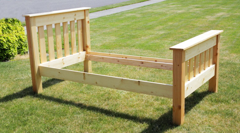 Simple Bed (Twin Size) Diy furniture plans, Home