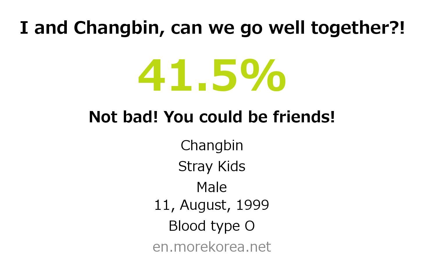 Kpop Idols Matching Fortune Check Changbin Stray Kids Better Together Kpop Idol Birthday Calendar