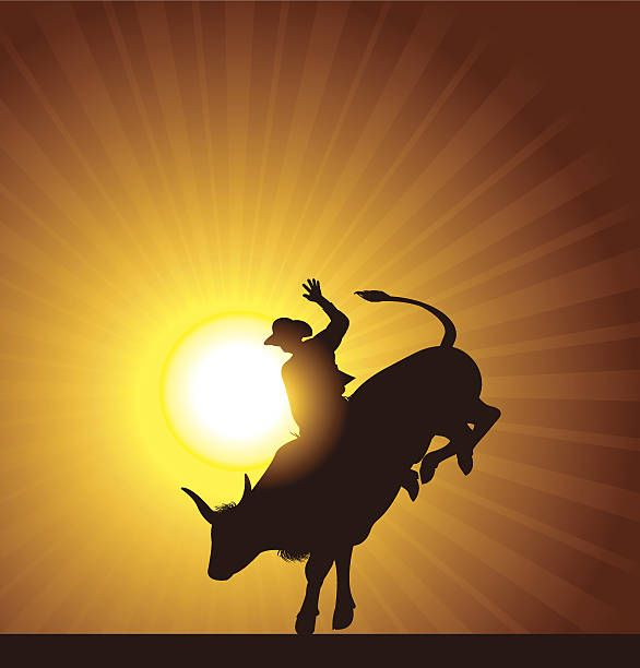 Rodeo Bull Riding Clip Art, Vector Images & Illustrations ...