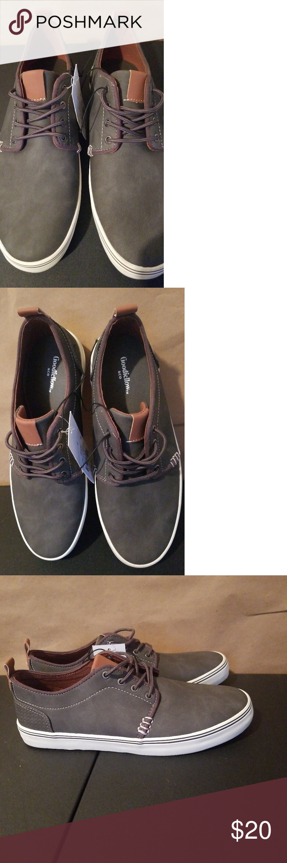 Mens Casual Boat Sneakers NWT, Men Suede texture Deck Sneakers. Olive, Lace up c…