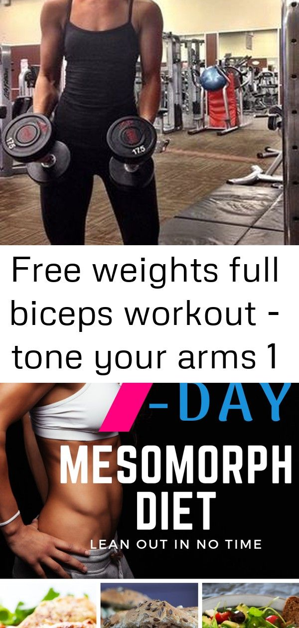 Free weights full biceps workout – tone your arms 1