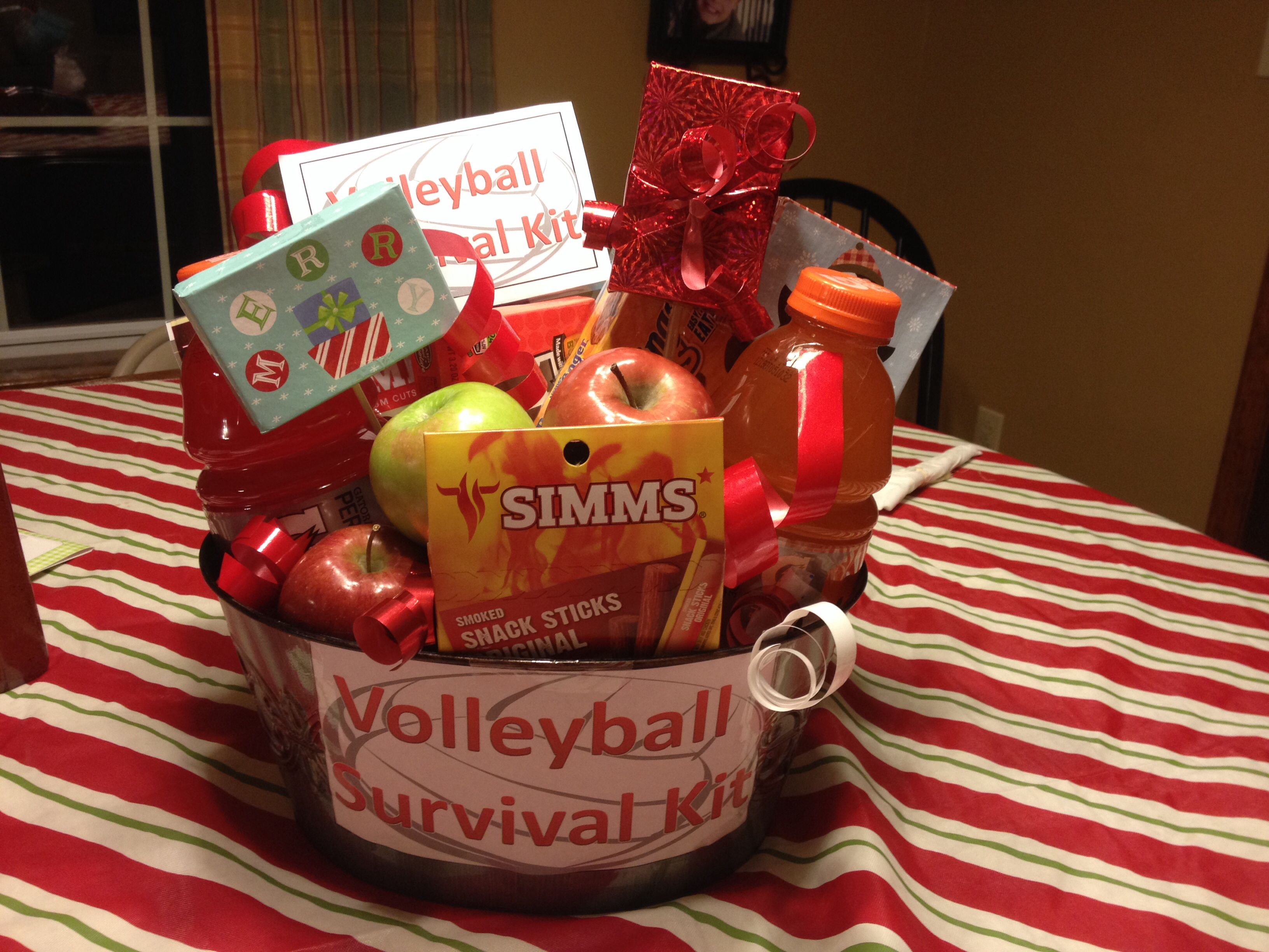 Volleyball survival kit add some snacks gatorade and gift volleyball party negle Choice Image