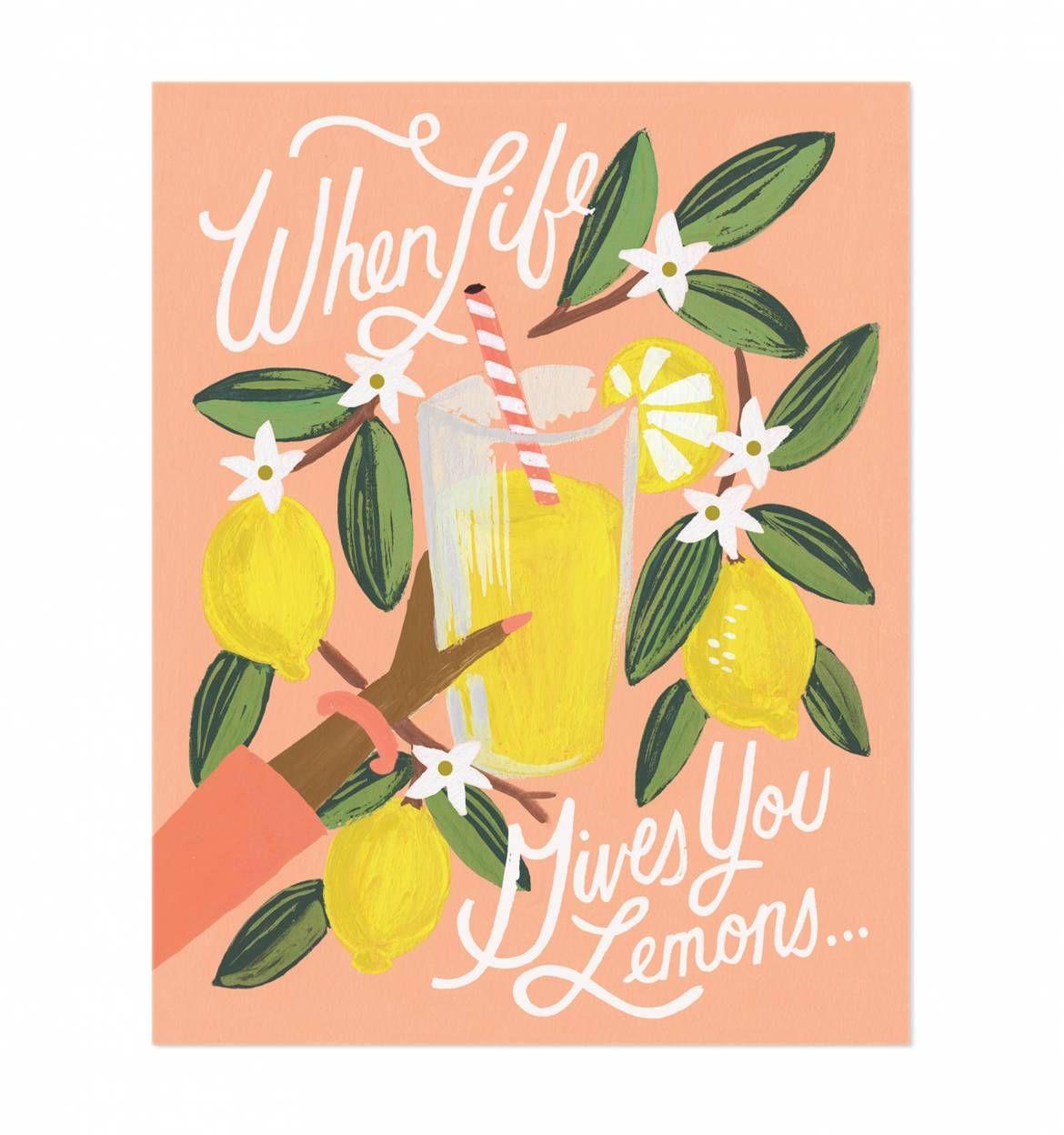 Lemons to Lemonade Illustrated Art Print by Anna Bond/Rifle Paper Co.