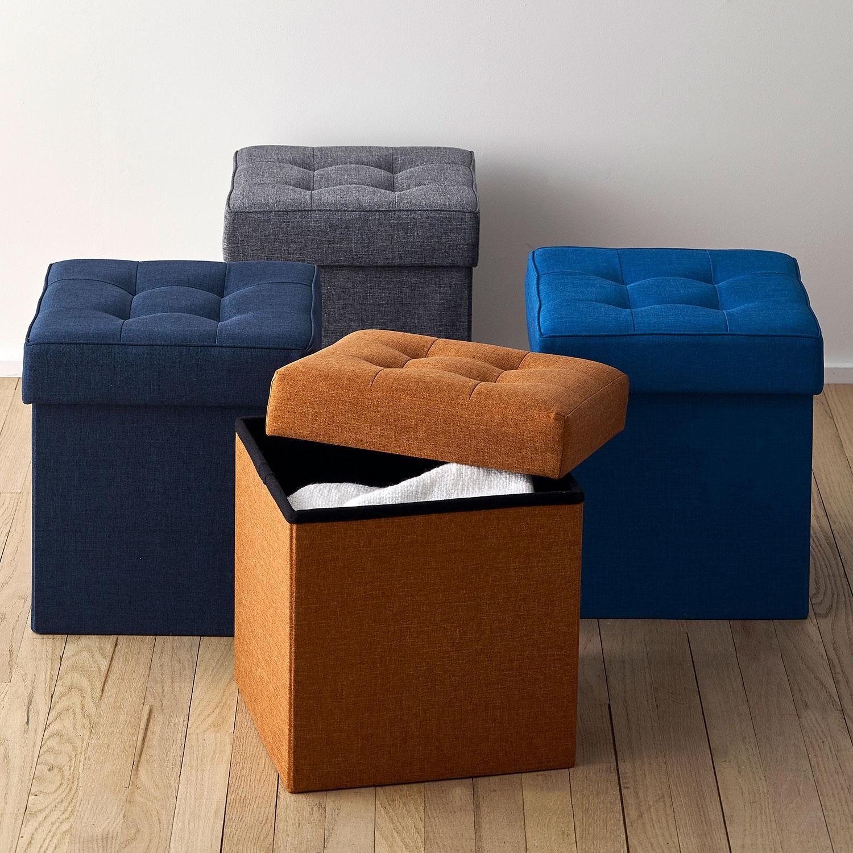 Brilliant Tufted Storage Ottoman At The Company Store Furniture Inzonedesignstudio Interior Chair Design Inzonedesignstudiocom