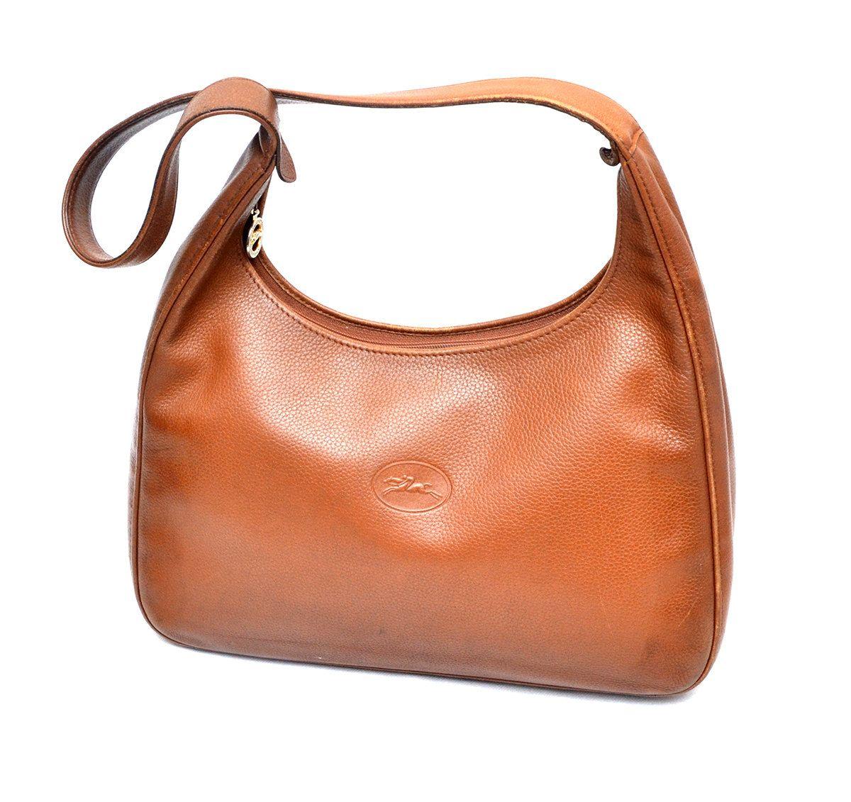 8e06fa32b5000 Authentic Longchamp Leather Shoulder Bag Hobo by MySunnyStore on Etsy