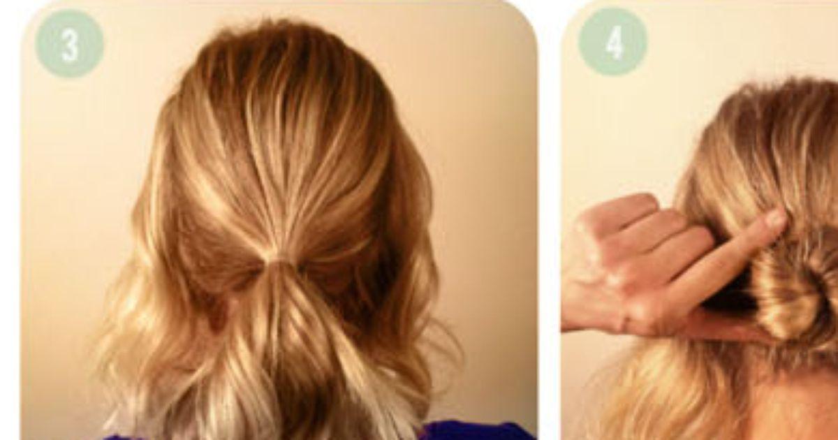 Eine sommerliche Frisur für kurze Haare | Haare | Hair ...