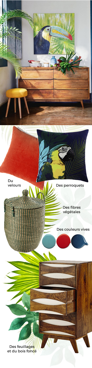 tendance d co 2016 jungle brazil maisons du monde d co esprit jungle pinterest tendance. Black Bedroom Furniture Sets. Home Design Ideas