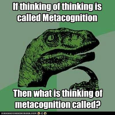 Image result for metacognition meme