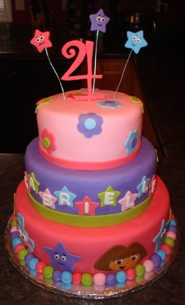 Dora Party Ideas Cake Maybe I can get Carol Z to make this