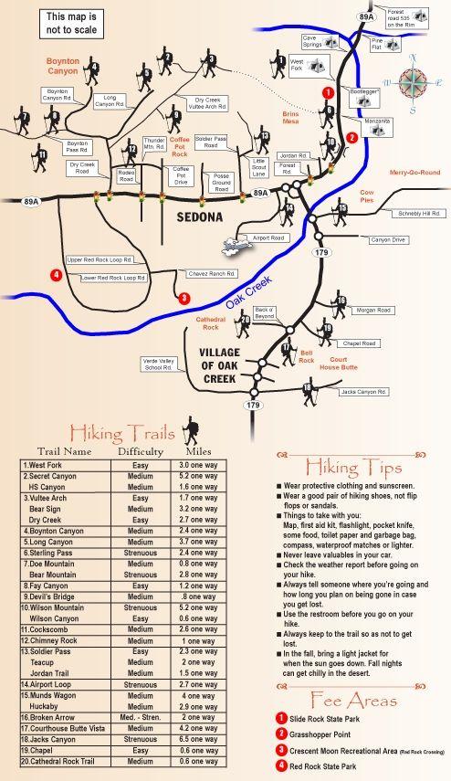 Sedona Hiking Trail Map - Sedona Red Rock News