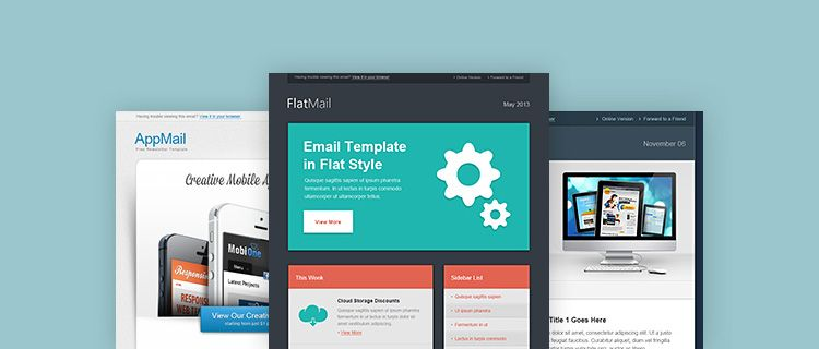 3 Clean Newsletter Templates Free Psd