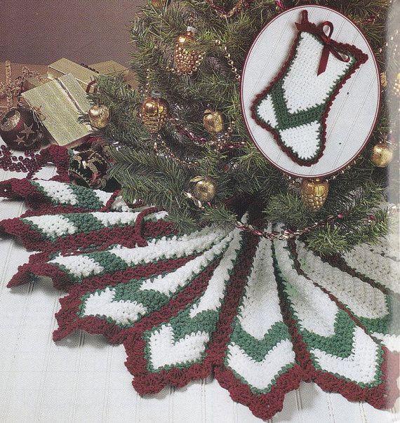 Easy Crochet Christmas Tree Skirt: Christmas Tee Skirt Crochet Pattern