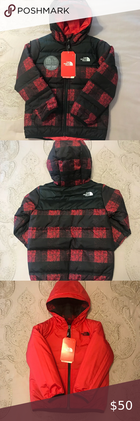 The North Face Little Boys Size 4treversible New In 2020 North Face Coat Outer Jacket The North Face [ 1740 x 580 Pixel ]