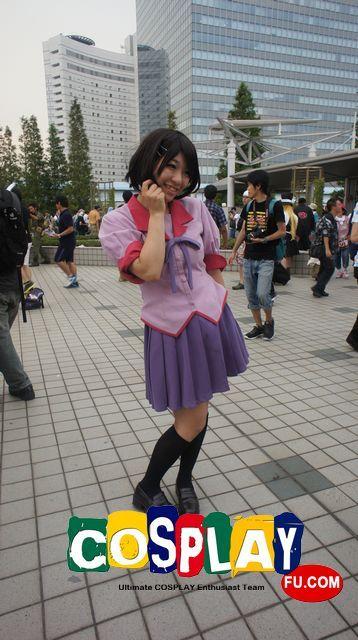 Suruga Kanbaru Cosplay from Bakemonogatari at コミックマーケット84(Comiket 84)