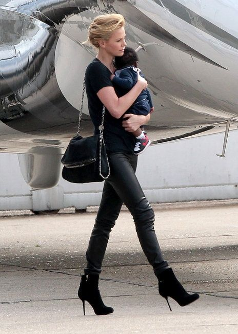 Charlize Theron with our  Falabella Fold-Over Tote.   Kids   family ... f1c908c40a5e