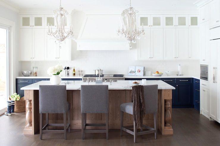 amazing white cabinet kitchen islands | source: Kelly Deck Design Amazing kitchen with creamy ...