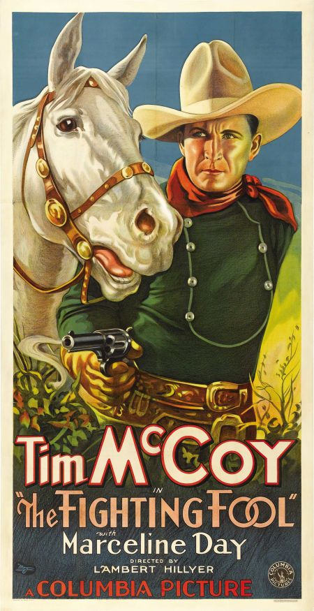 1932 Rex Bell Cult Western movie poster 24x36 inches Broadway to Cheyenne