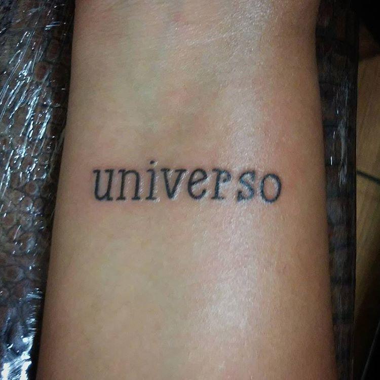 Universe Universo Tatuaje Tattoo Lettering Letras Inked