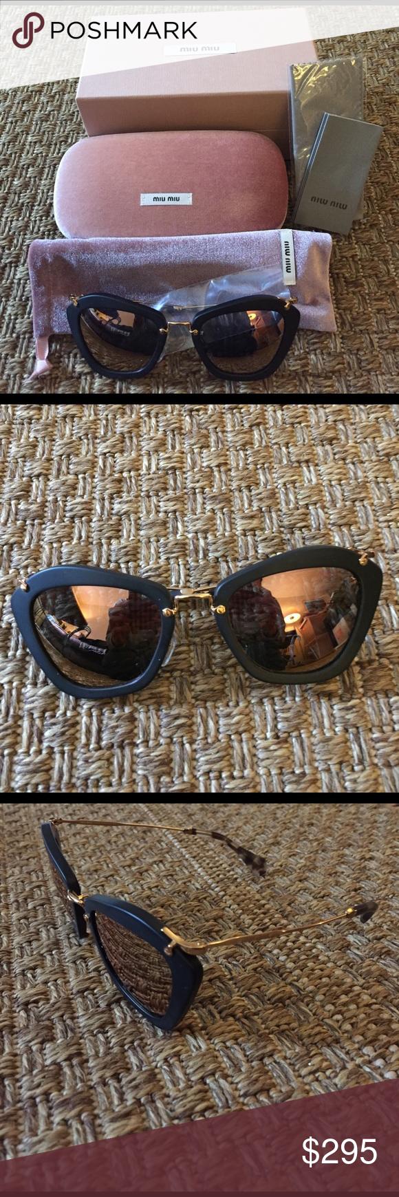 4568f76bd5d NEW Miu Miu cat eye sunglasses Brand new never been worn Miu Miu cat eye  sunglasses with rose gold mirror lenses. Best selling Miu Miu style (0MU  10NS) ...