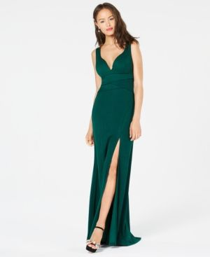 0a1e03a013b6 Emerald Sundae Juniors' Sweetheart Side-Slit Gown | Products ...