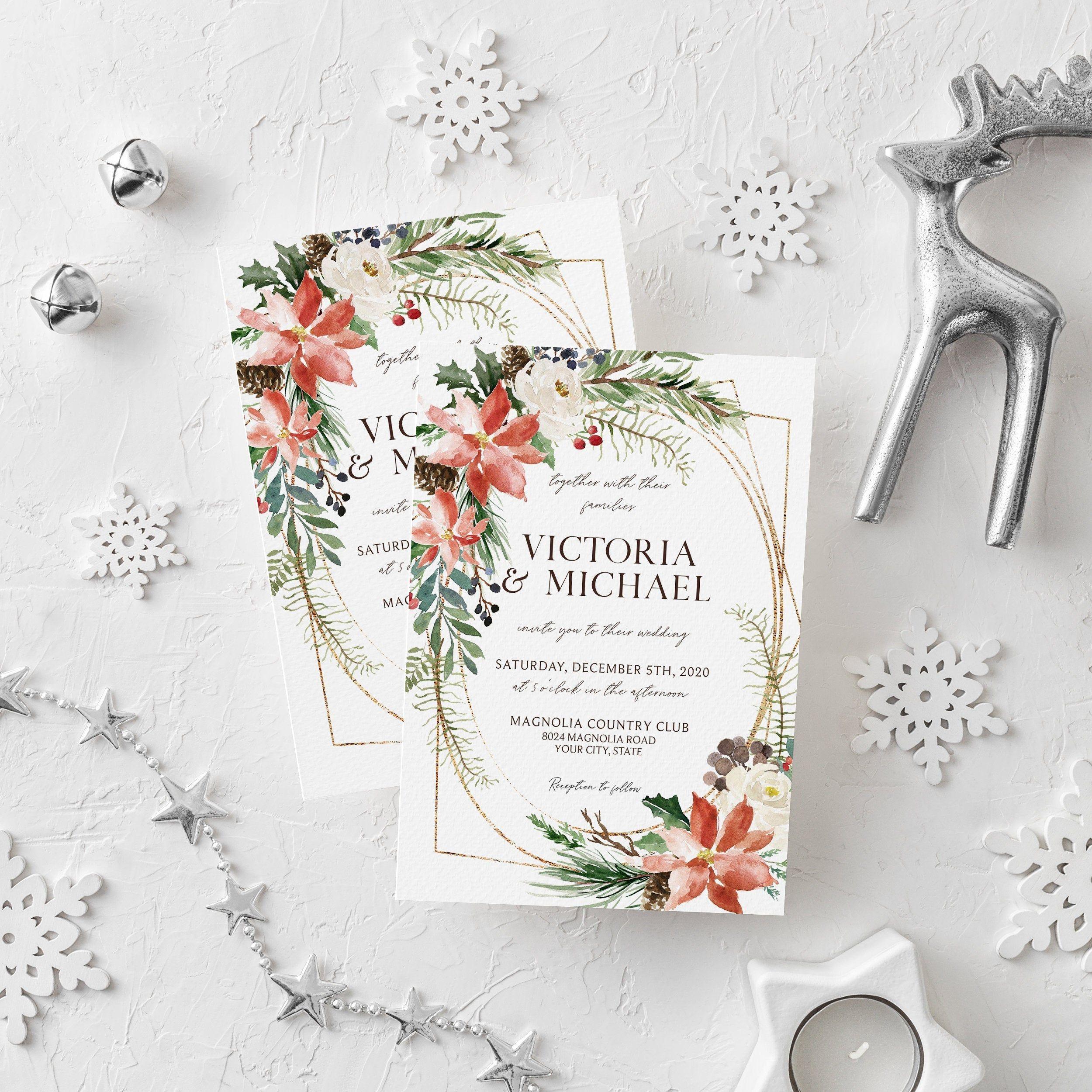 Christmas wedding invitations canada