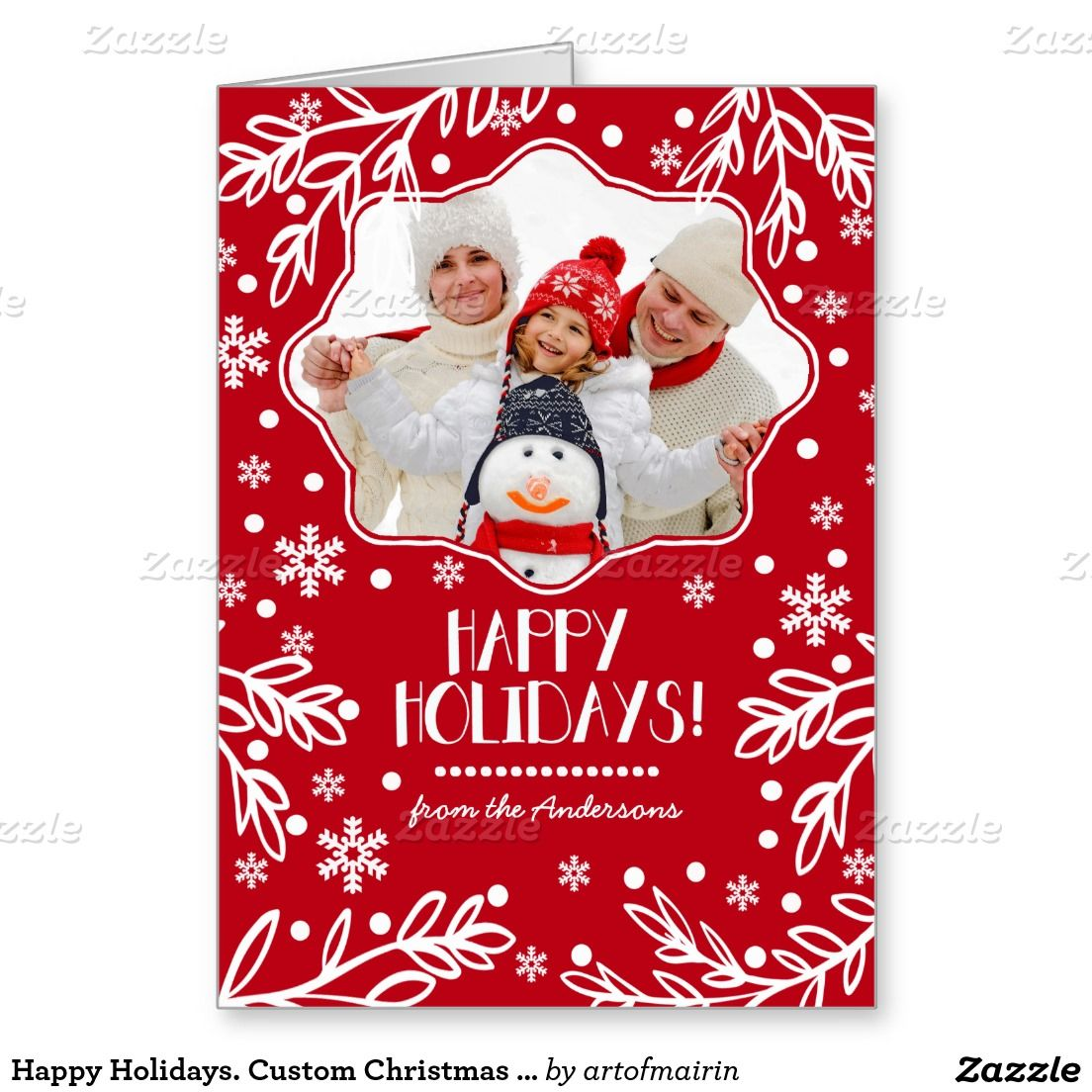 Happy Holidays Custom Christmas Photo Cards Christmas Photo Cards