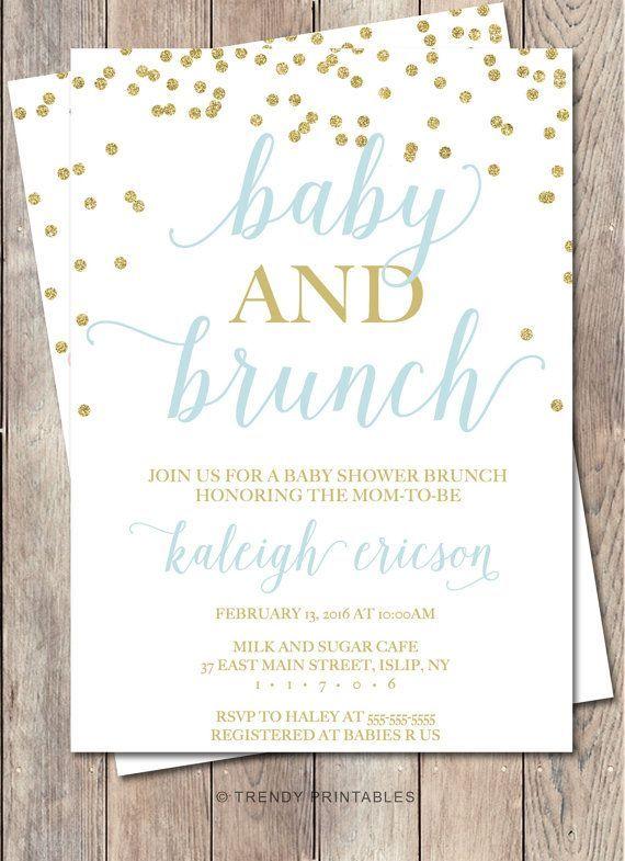 Baby Shower Invitation, Baby Shower Brunch, Baby Shower Brunch - how to word baby shower invitations