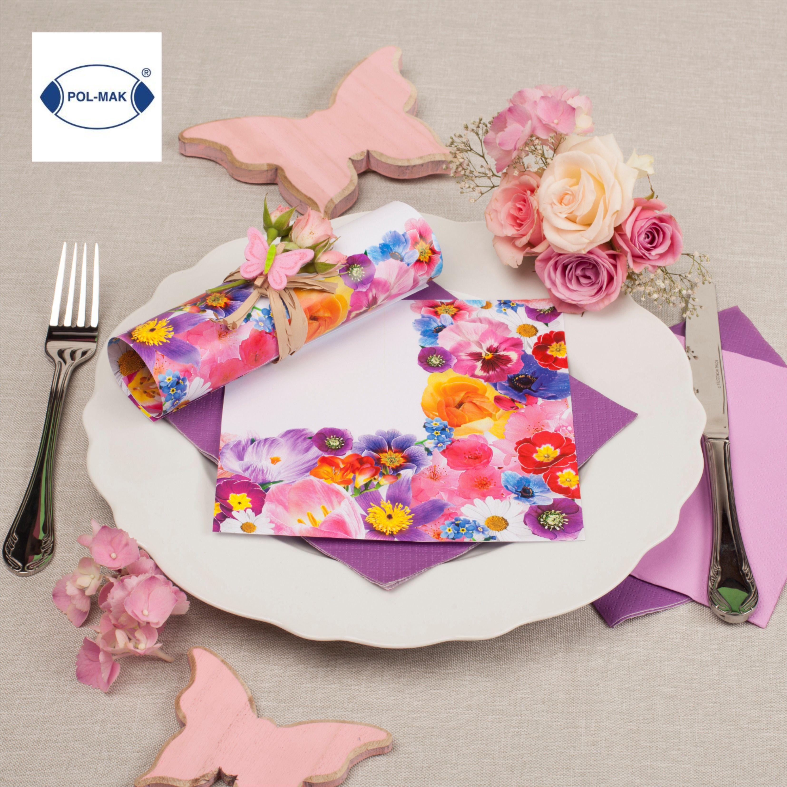 Decorative Print Paper Spring Flowers Napkin From Pol Mak Poland In 2020 Decorative Prints Spring Flowers Napkins