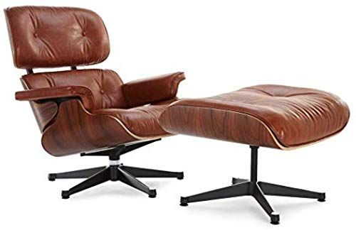 Amazing Offer On Soho Modern Style Replica Lounge Chair Ottoman Antique Brown Leather Premium Reproduction Mid Century Modern Furniture Aniline Online Chair Ottoman Eames Chair Replica