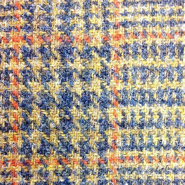 Harris Tweed detail - love the colours