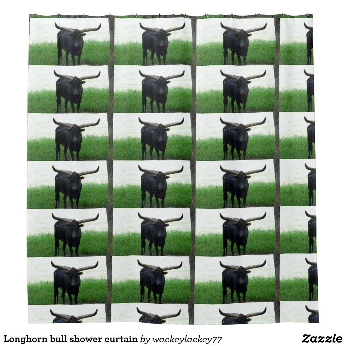 Longhorn Bull Shower Curtain Zazzle Com Shower Curtain
