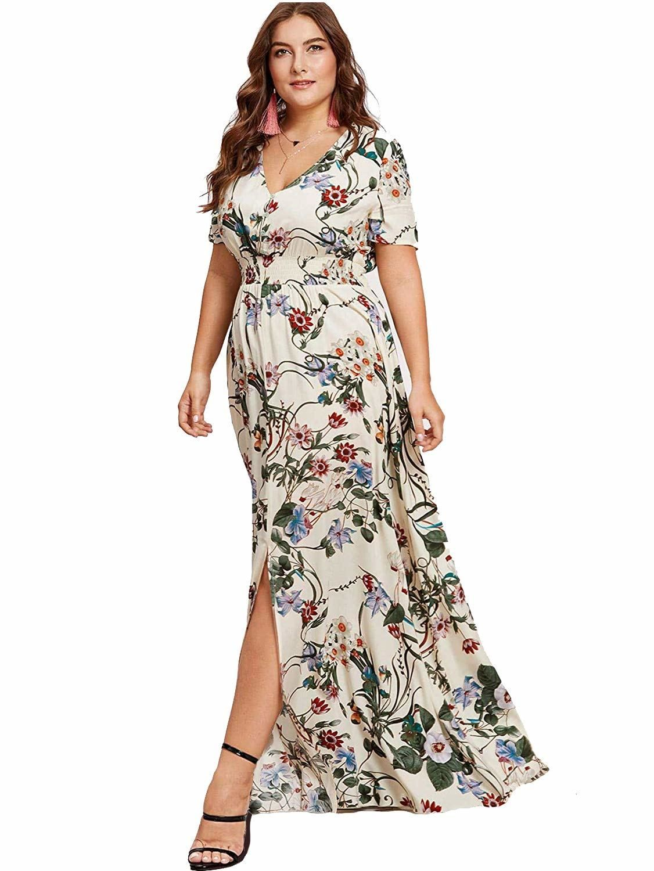 Plus Size Maxi Wedding Guest Dresses in 2020 Curvy dress