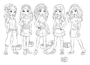 lego friends coloring pages - Lego Friends Coloring Pages