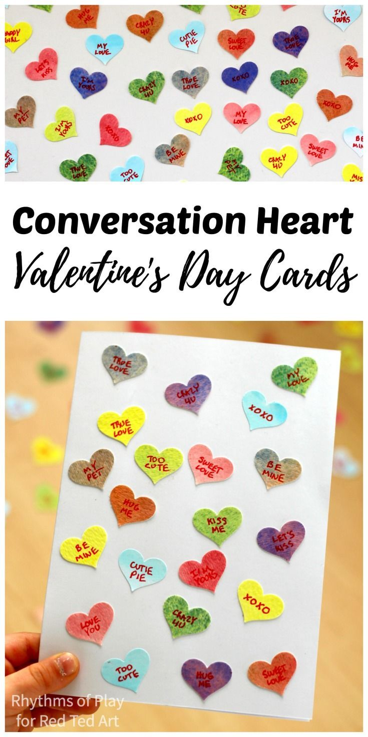 Conversation Heart Valentines Cards | Conversation, Valentine crafts ...