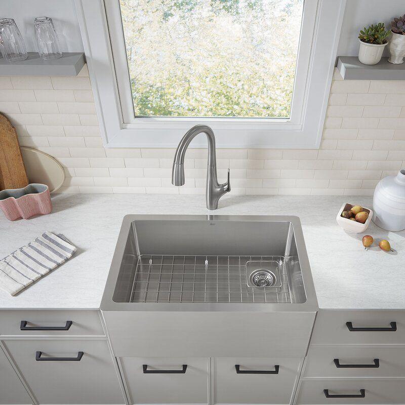 Avery Single Bowl 30 L X 20 W Farmhouse Apron Kitchen Sink