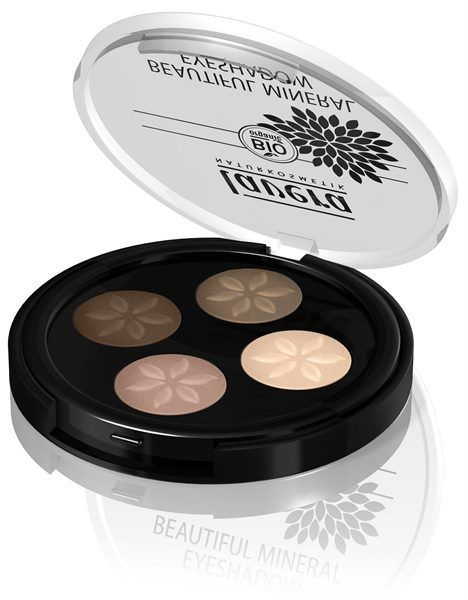 Lavera Beautiful Mineral Eyeshadow Quattro Cappuccino Cream 02