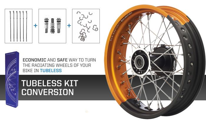 Alpina Raggi Kit For Spoke Wheels Allows Tubeless Tyres To Be - Alpina motorcycle wheels