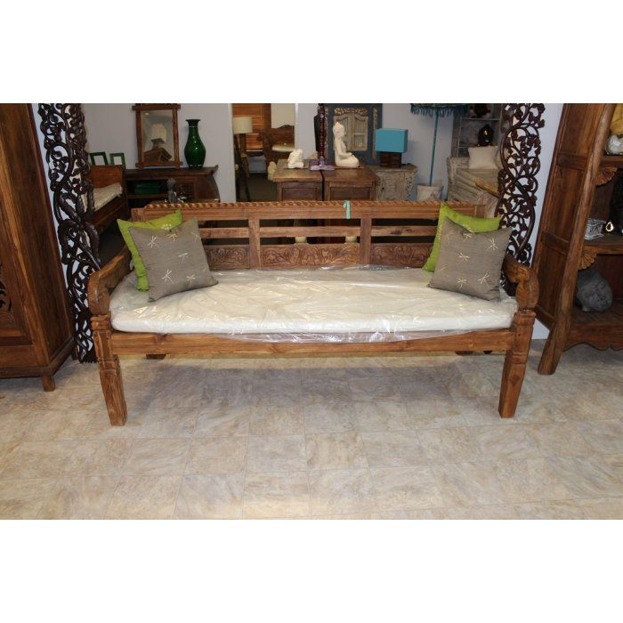AW 8908 Antique Boat Teak Balinese Daybed   day beds and benches   Balinese  Furniture. AW 8908 Antique Boat Teak Balinese Daybed   day beds and benches