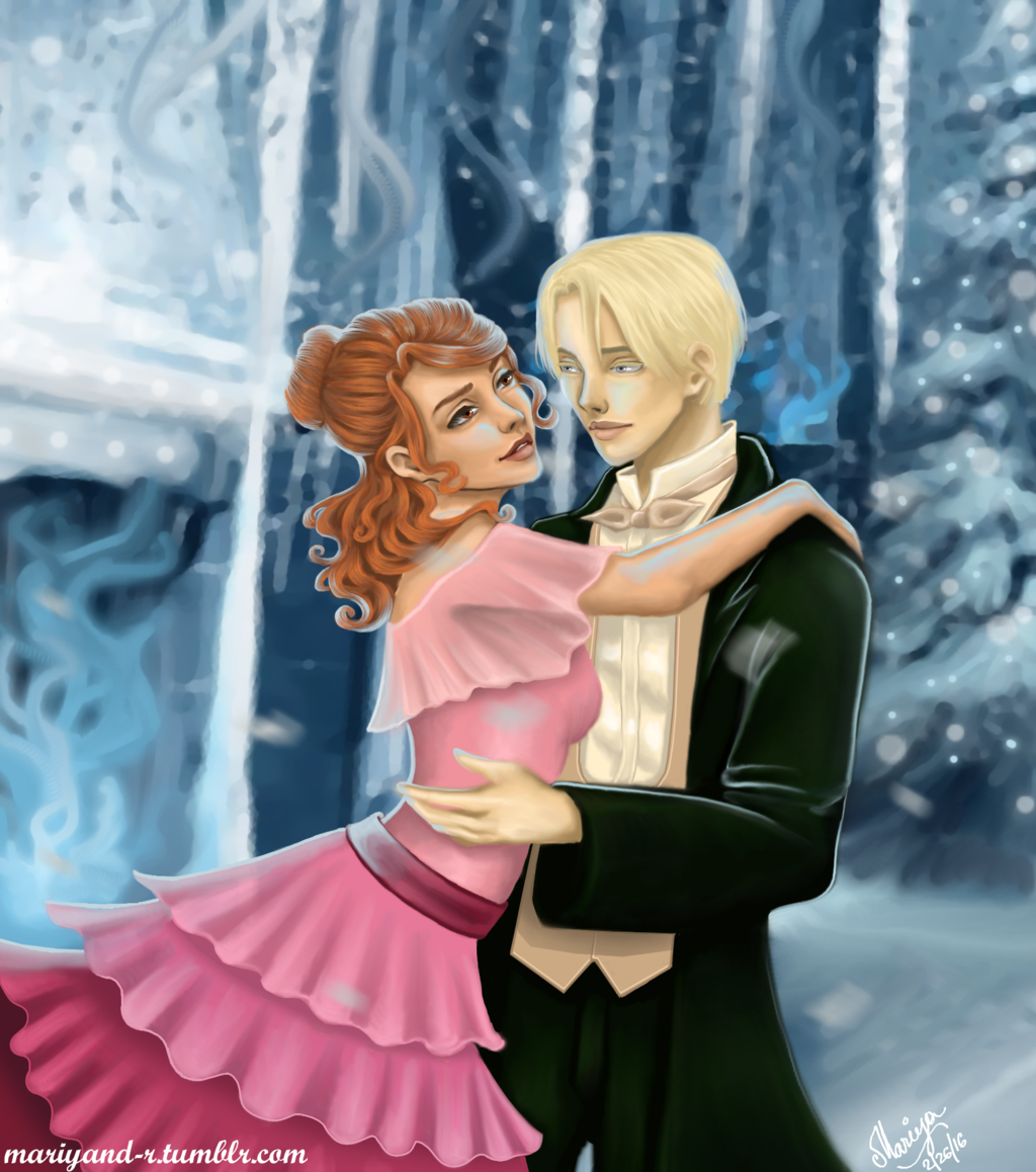 Dramione Yule Ball Dramione Draco And Hermione Dramione Fan Art