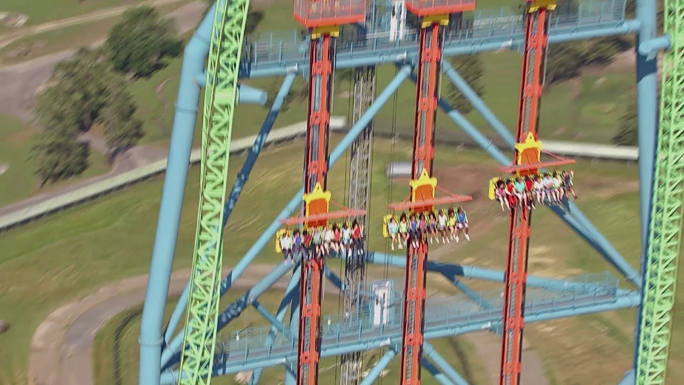 Zumanjaro Drop Of Doom Ridercam Off Ride Hd B Roll Footage Six Flags Six Flags Great Adventure Greatest Adventure Six Flags