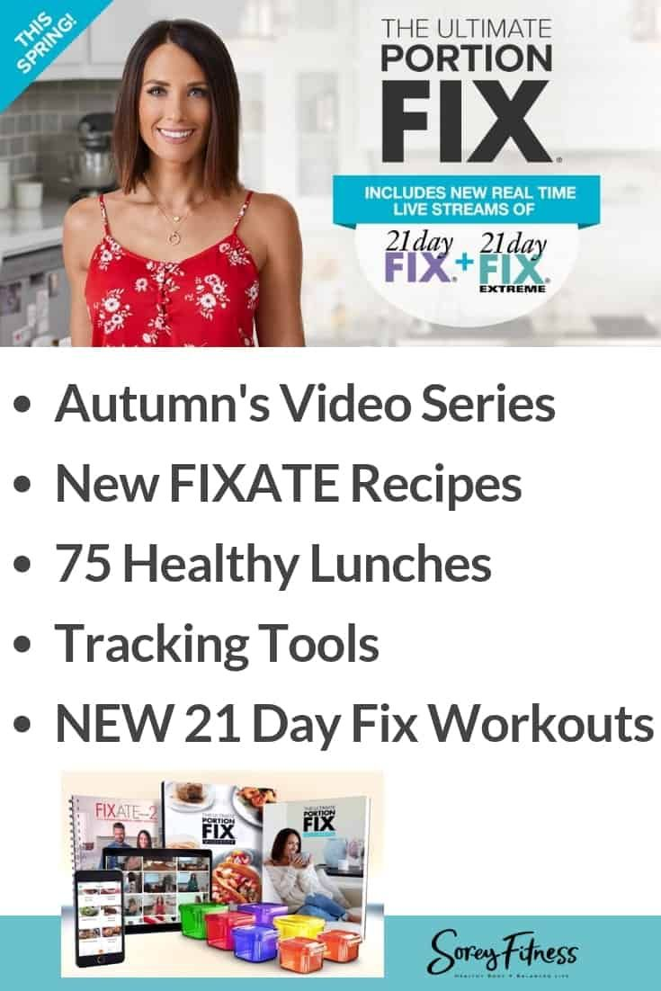 Ultimate Portion Fix 2019  Autumn Calabrese's Containers Updated is part of 21 day fix meals, Diet recipes lose weight, 21 day fix diet, 21 day fix workouts, Diet recipes, 21 day fix - Beachbody's Autumn Calabrese Ultimate Portion Fix 2019 teaches you how to eat clean, give up sugar & get results! New 21 Day Fix workouts are included too!